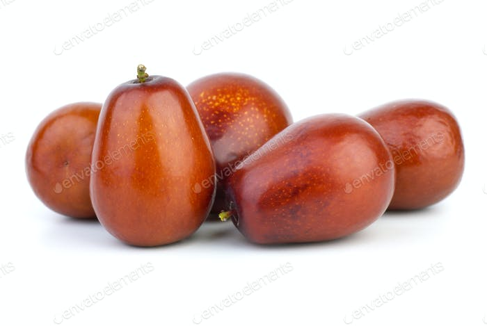 Five ripe jujube berries