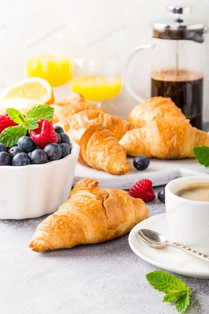 Delicious continental breakfast