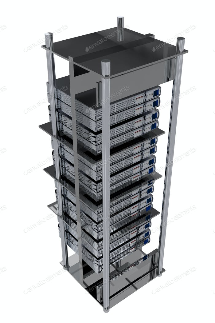 Silver Servers Rack - Hosting Theme