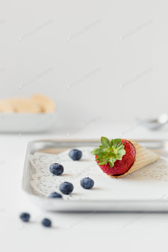 Strawberry cone