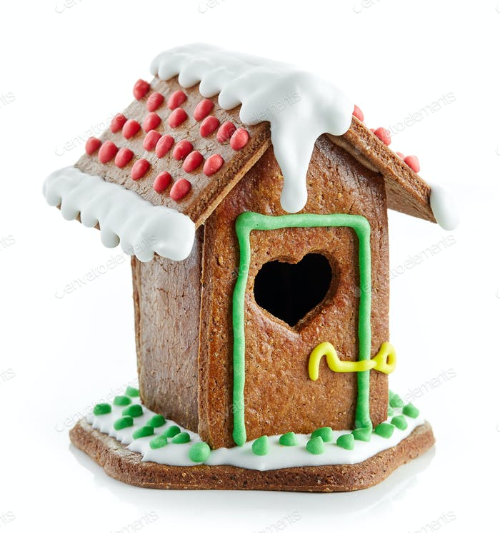decorative gingerbread house