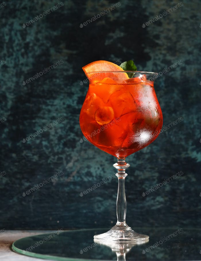 Glass With An Alcoholic Cocktail