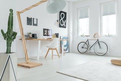 White spacious studio