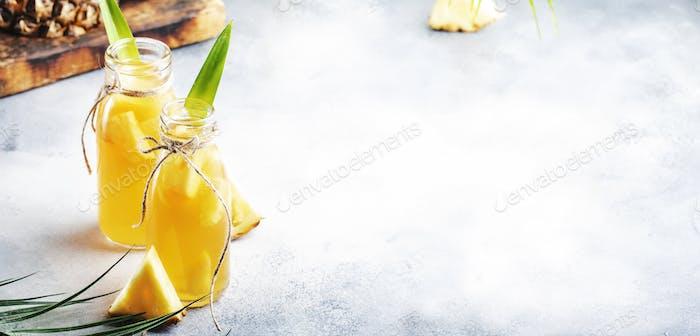 Fermented Pineapple Kombucha Drink
