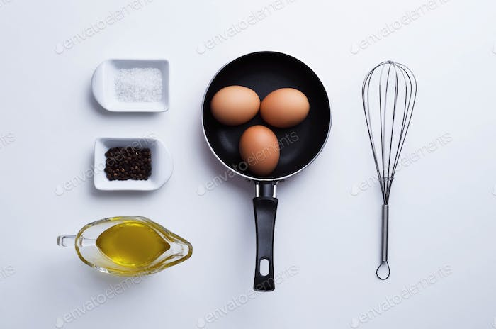 Scrambled eggs ingredients