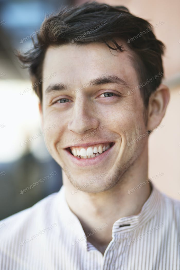 Portrait of happy handsome man