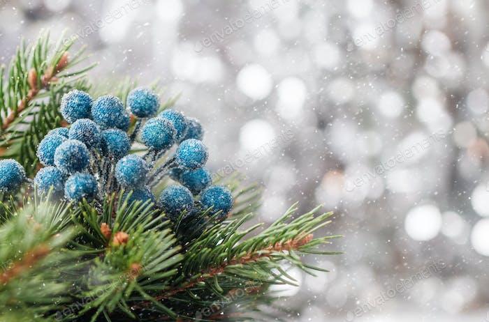 Silberner Weihnachts-Hintergrund