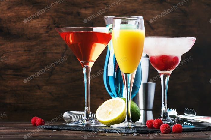 Selection of summer cocktails