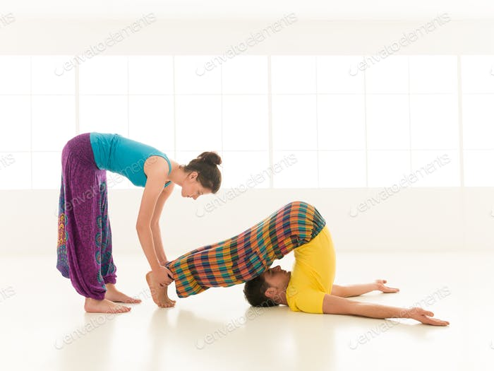 instructor teaching yoga