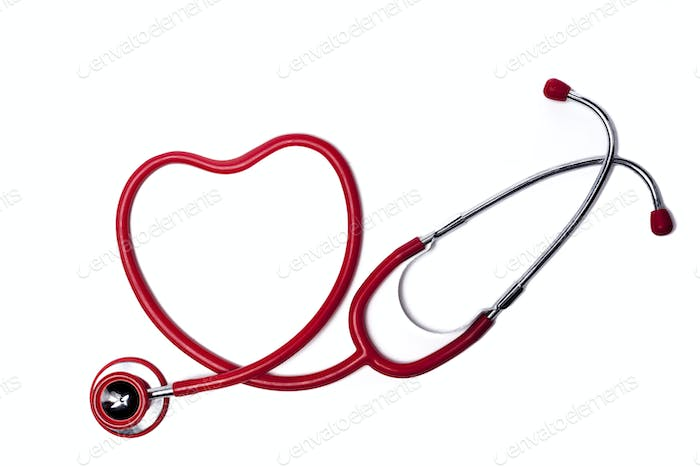 Red Heart Stethoscope