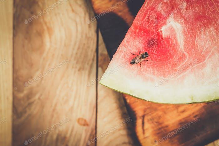 Wassermelone auf dem Tisch
