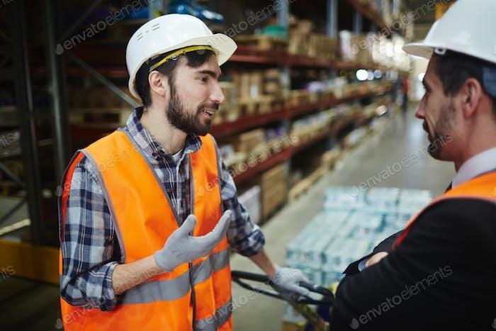 Talking to foreman