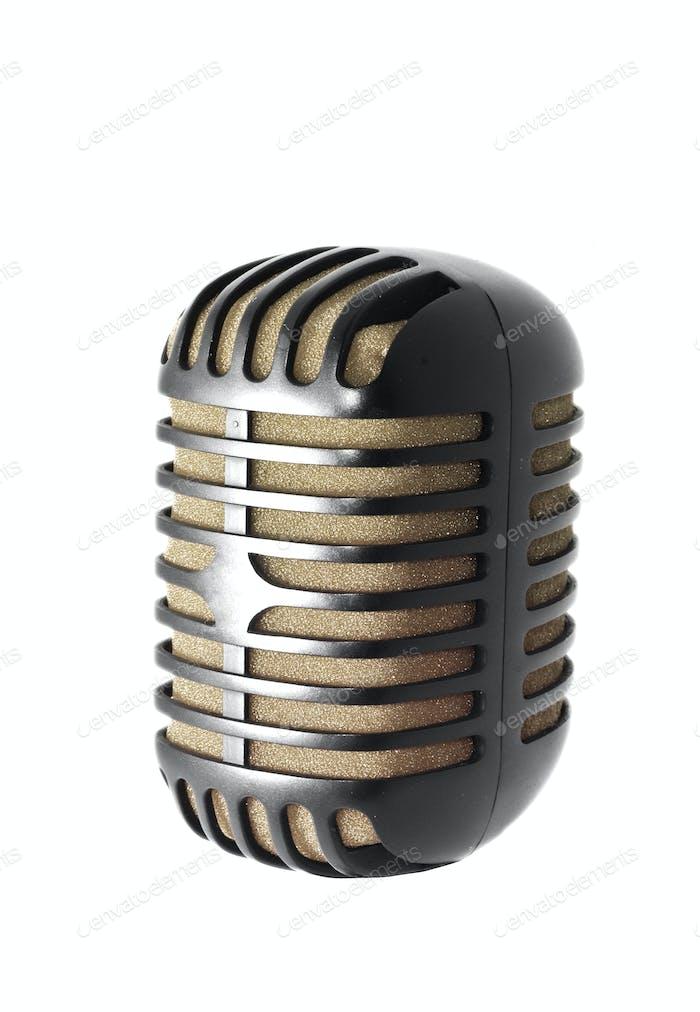 Vintage-Mikrofon isoliert