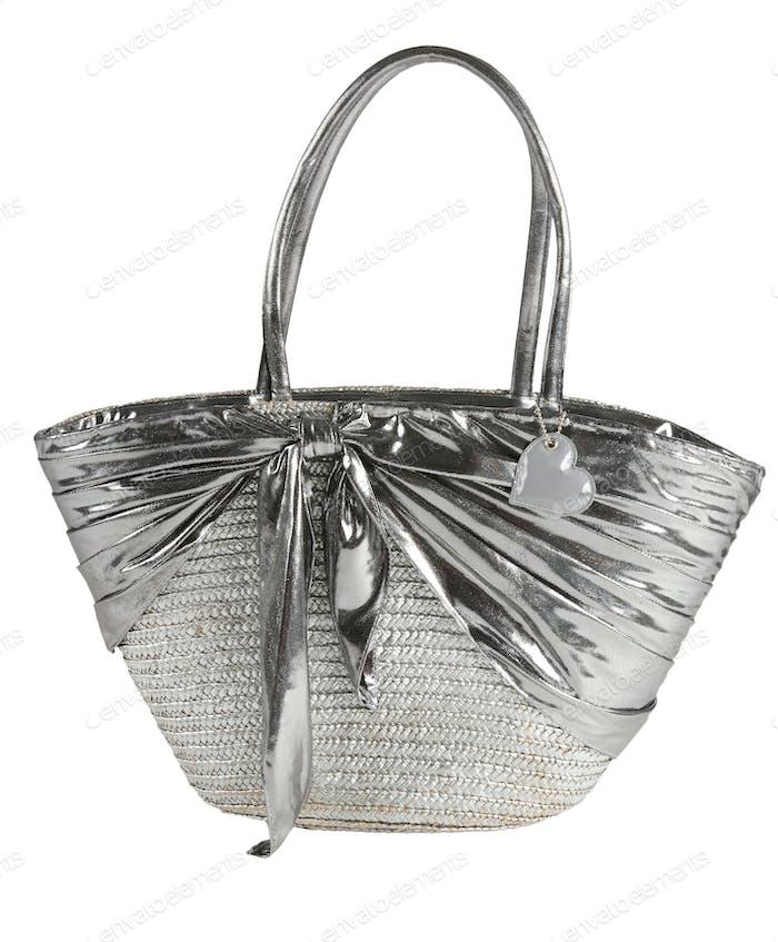 Silver basket tote