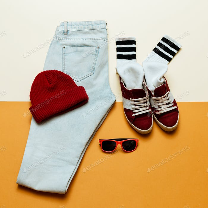 Urban active style. Outfit