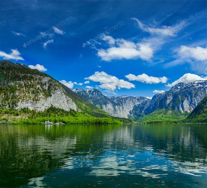 Hallstätter See mountain lake in Austria