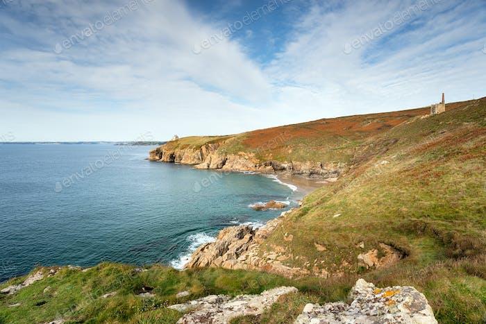 Rinsey Head on the Cornish Coast