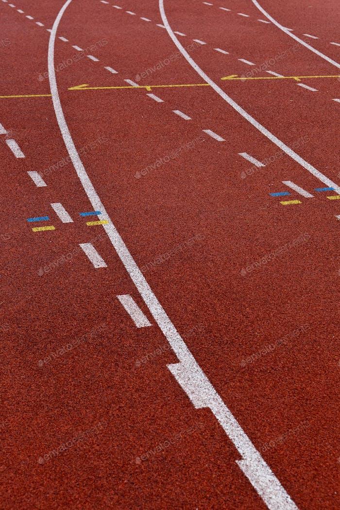 Sportplätze Konzept - Leichtathletik Track Lane Numbers