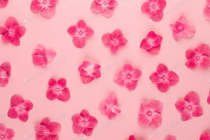Springtime floral greeting card template.