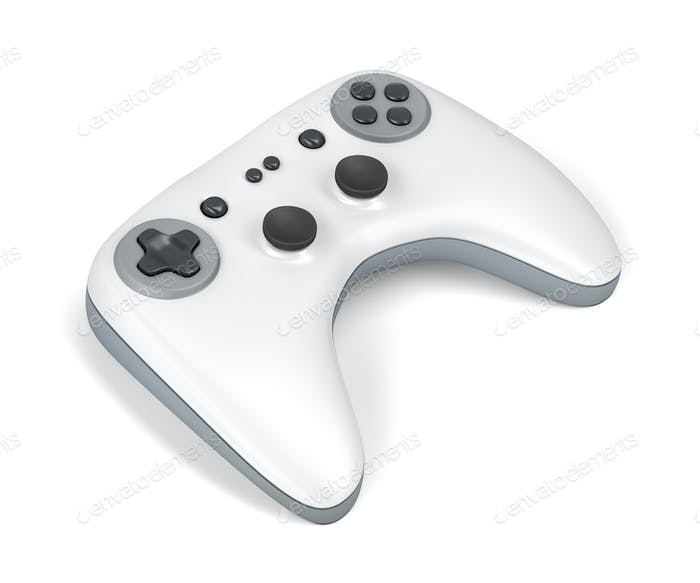 Weißer Gamecontroller