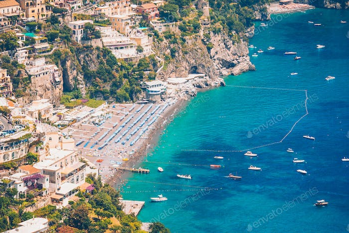 Beautiful coastal towns of Italy - scenic Positano in Amalfi coast