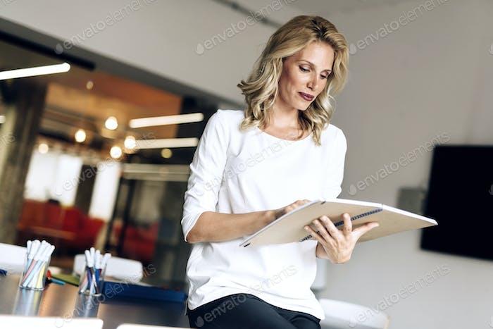 Beautiful woman reading
