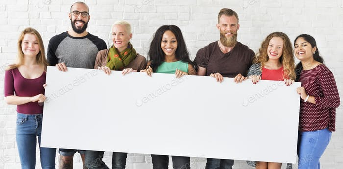 People Friendship Togetherness Copy Space Banner Concept
