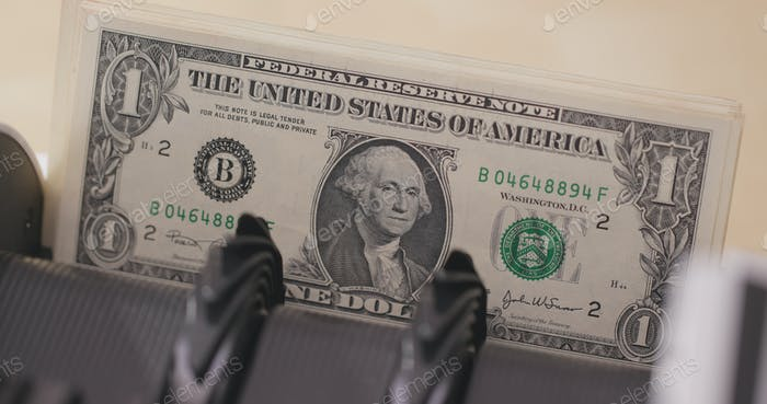 Counter of money of usd
