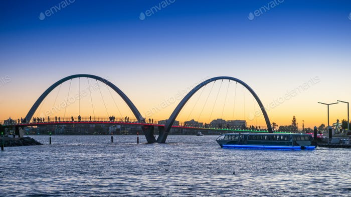 Elizabeth Quay Ferry at Sunset