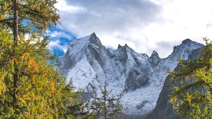 Pizzo Badile on the Rhaetian Alps