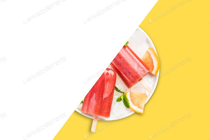 Homemade popsicles recipe template