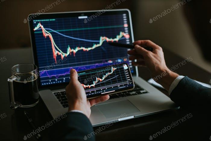 investment stockbroker profit analysis
