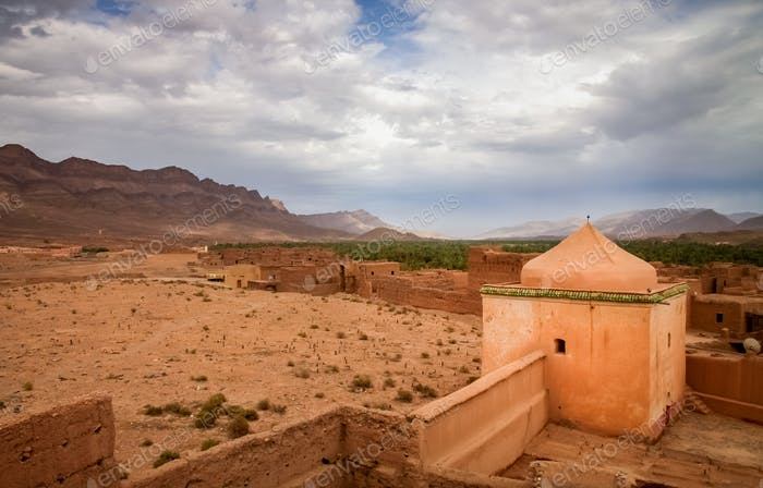 Walls of an old kasbah