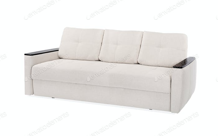 textile sofa isolated