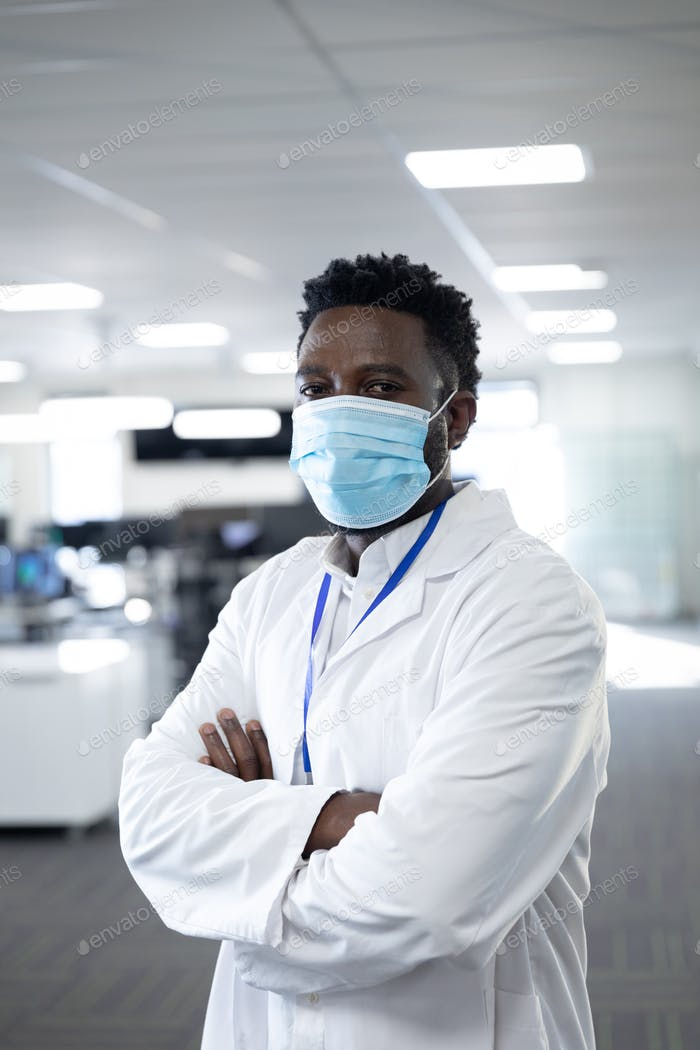 Portrait of male health professional at workplace