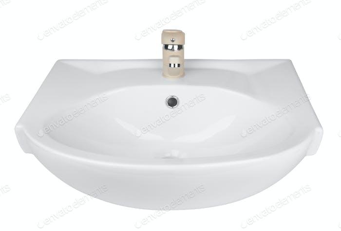Waschbecken isoliert auf weiß
