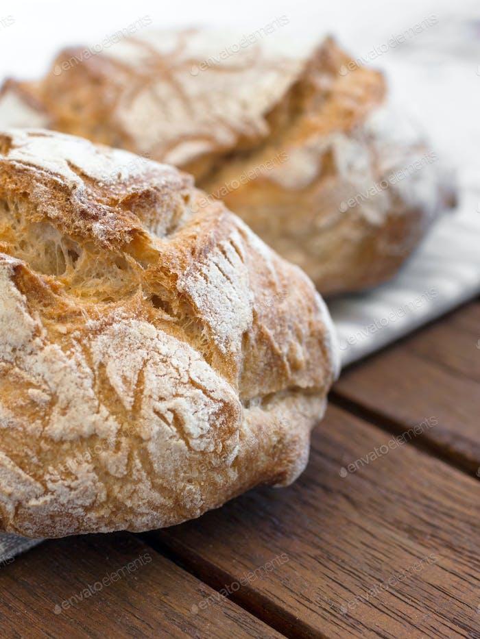 Round bread close-up
