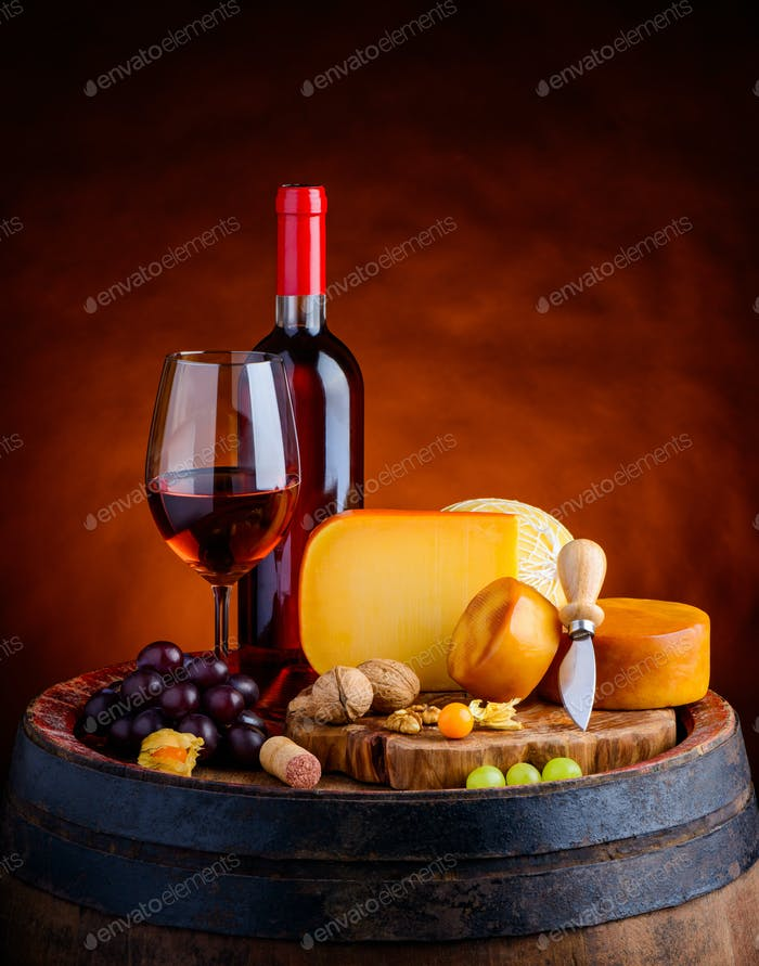 Gouda Cheese and Rose Wine