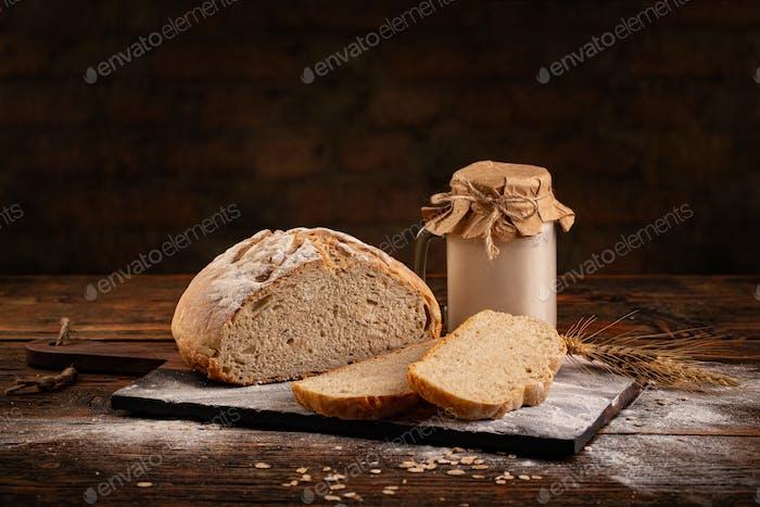 Pan de masa madre hecho en casa