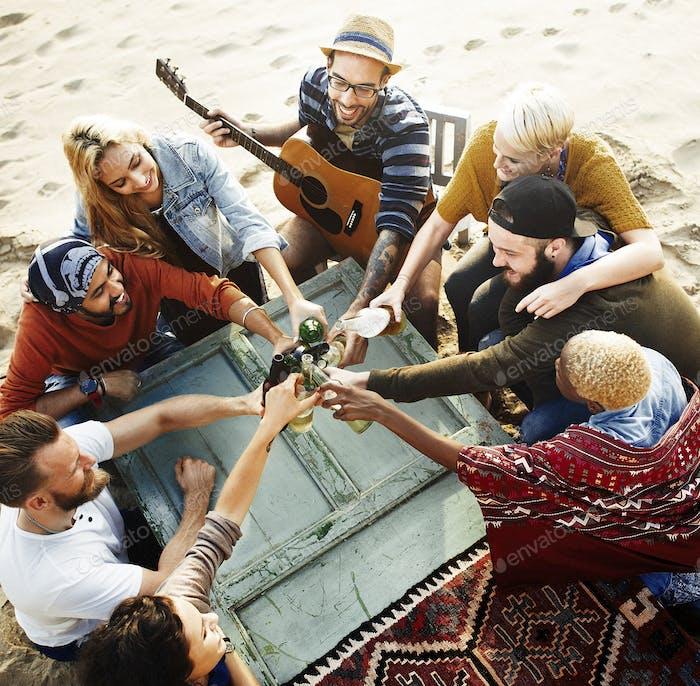Party Feiern Feier Freundschaft Zusammengehörigkeit Konzept