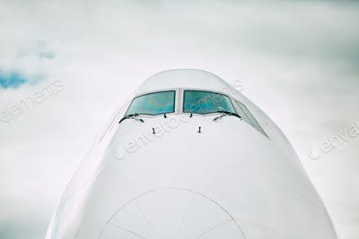Front view of the airplane