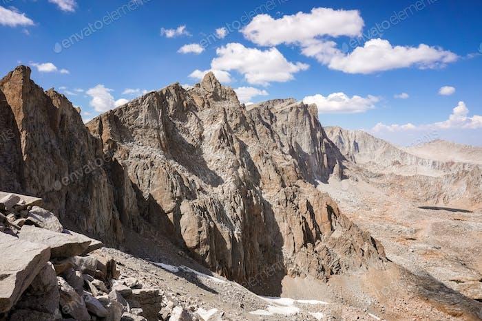 View towards Mount Whitney summit