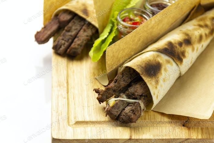 Tortilla with lamb