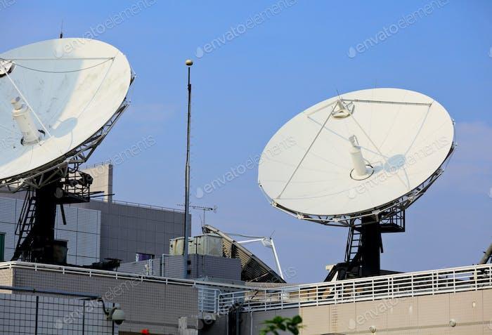 satellite dish on roof