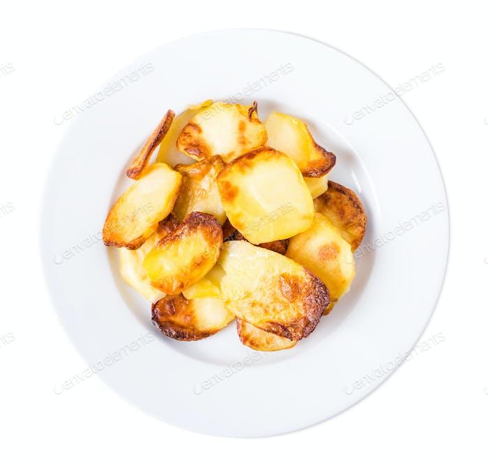 Traditional roast potatoes.
