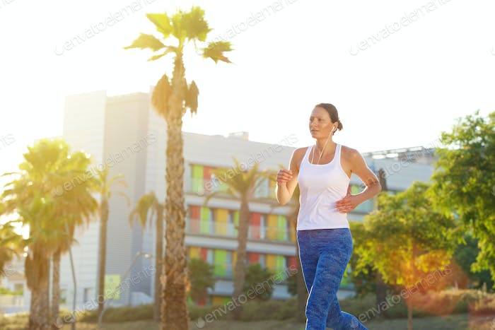 Female runner exercising outdoors
