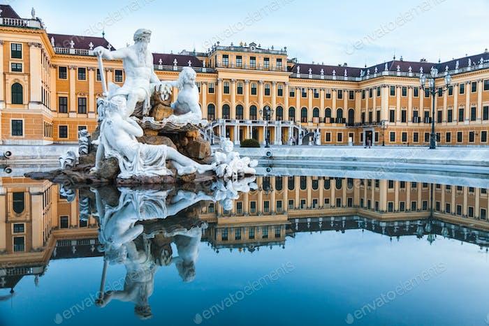 Vienna, Austria, July 21 2017: Schonbrunn Palace, imperial summer residence in Vienna, Austria