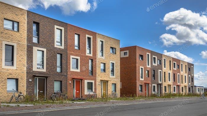Modern Social housing under blue sky