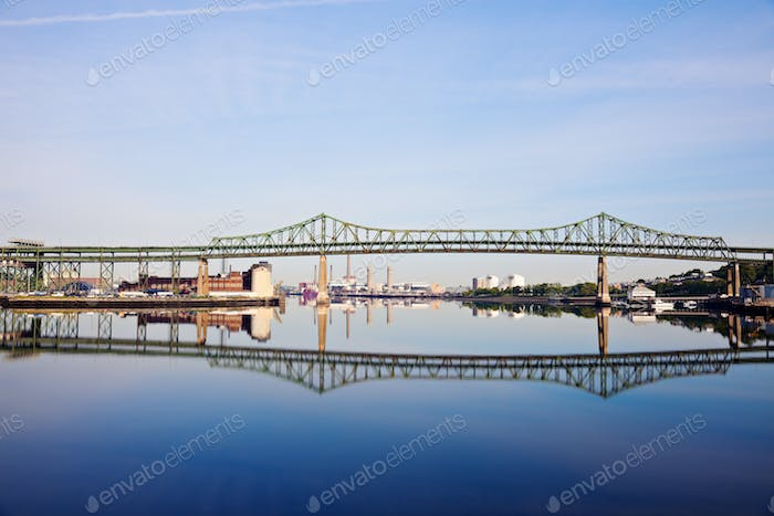 Tobin Memorial Bridge or Mystic River Bridge in Boston