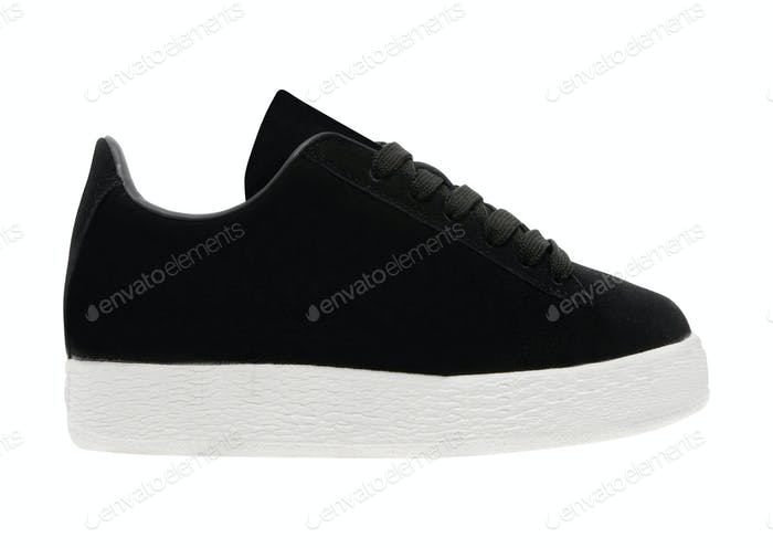 high-top sneaker on white background
